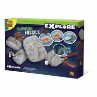 Ses Creative NIÑOS Explorar Fosforescente Brillante Fósiles Playset (25073)
