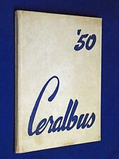 1949 1950 Ceralbus Burbank High School Yearbook Annual California Year Book