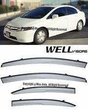 For 06-11 Civic Sedan WellVisors Side Window Visors Aerodyn Series Rain Guard