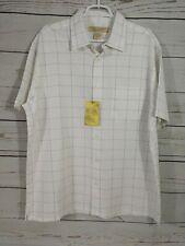 NWT Island Republic Shirt ~ Button Up ~ Men's XL ~ White/Gray ~ Short Sleeves