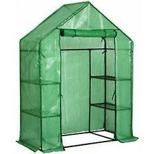 Faboer Walk-in 3 Tier Polytunnel Greenhouse Planter PE Cover 143 x 73 x 195cm