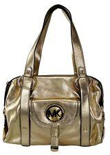 Michael Kors Leather Pale Gold Fulton Shoulder Bag Large Handbag Satchel