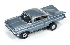 NOS Auto Worl Steel Blue 59 Impala HO Thunderjet Slot Car Run on Aurora Tomy AFX