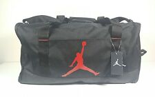NIKE JORDAN DUFFEL GYM BAG WET/DRY SHOE POCKET BLACK/RED