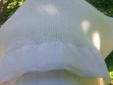 Baby Morgan Fleeced Acrylic Crib Blanket Thermal Waffle Weave Nylon Trim White