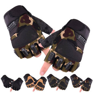 Mens Military Army Half Finger Gloves Tactical Fingerless Motorcycle Cycling GL