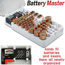 1x Portable Battery Master Battery Capacity Tester Storage Organizer Box Hold 93