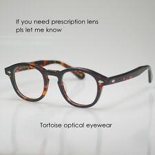 Retro Johnny Depp eyeglasses tortoise acetate frame womens mens glasses RX lens