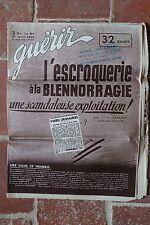 Ancienne revue - Guérir N°85 AVRIL 1936 Escroquerie à la blennorragie - médecine