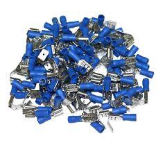 100x COSSES ELECTRIQUE ISOLEE A SERTIR PLATE 6,3 MM BLEUE AVEC DERIVATION -C1279
