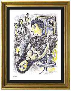 """Marc Chagall Signed/Hand-Numbered Ltd Edition """"Happiness"""" Litho Print (unframed)"""