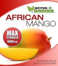 AFRICAN MANGO MAX 6000mg HIGH STRENGTH WEIGHT LOSS DIET 30  SLIMMING PILLS