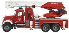 Bruder MACK Granite Fire Engine Toy Truck w/ Slewing ladder & Water Pump # 02821
