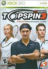 Top Spin 3  (Microsoft Xbox 360, 2008) Brand New Factory Sealed!!