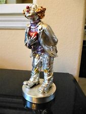 New In Box Mida Argenti Silver Clown Italy Hand Painted Rino Hand On Heart