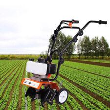 52cc Garden Petrol  Mini Tiller Engine 2 Strokes Cultivator Rotovator Lawn Soil