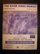 The River Kwai March Sheet Music Vintage 1958 For Organ With Chord Names (O)