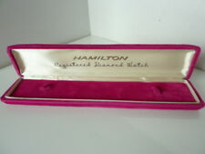 long type in perfect condition Hamilton Swiss men's presentation watch box
