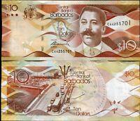 BARBADOS 10 DOLLARS 2013 P 75 UNC