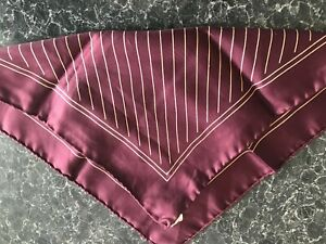 Authentic Vintage 60's Silk Pocket Square Italian Made Handkerchief