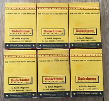 6 Vintage Kodak Kodachrome Sealed NOS 16mm Film Magazines Expired March 1959