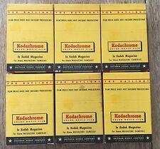 6 Vintage Kodak Kodachrome Sealed NOS 16mm Film Magazines Expired March 1959