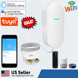 Tuya Smart WiFi Water Leak Sensor Flood Leakage Level Alarm Overflow Detector US