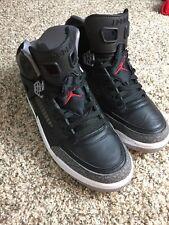 Nike Air Jordan Spizike Black Cement Grey White Red 315371 034 Size 10.5 Men