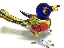 1 pc MINIATURE BIRD HAND BLOWN GLASS ART BIRD FIGURINE ANIMAL SOUVENIR GIFT