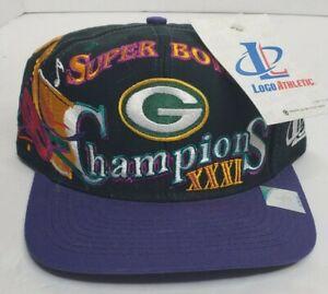 Vtg Logo Athletic Green Bay Packers Super Bowl XXXI 31 Championship Hat New NWT!