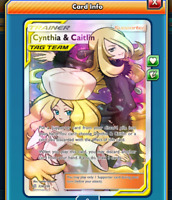 DIGITAL Cynthia & Caitlin Full Art pokemon tcg online