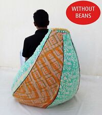 Handmade vintage Cotton Floral Bohemian Bean Bag Slipcover and insert BD78