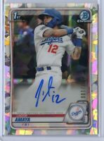2020 Bowman Chrome JACOB AMAYA ATOMIC Refractor Auto /100 Los Angeles Dodgers