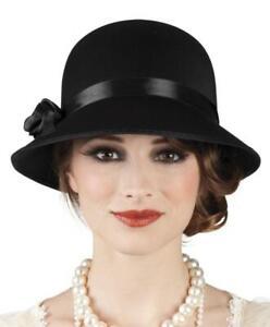 Damen Diva Hut Charlestonhut 20er Jahre Flapper Fransen Kostüm Kleid Charleston