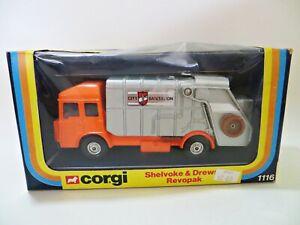 CORGI 1116 'SHELVOKE & DREWRY REVOPAK REFUSE TRUCK/BIN LORRY' MIB/BOXED. VINTAGE