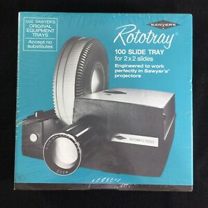NEW Sawyer's Rototray Slide Tray Holds 100 2x2 Slides for Projectors
