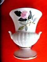 BEAUTIFUL WEDGWOOD  PINK ROSE VASE 9CM  MADE IN ENGLAND