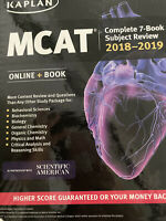 2018-2019 Kaplan MCAT Complete 7-Book Subject Review Great Condition