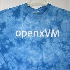 Sun Microsystems XL Shirt Blue Tie Dye OpenxVM Geek Techie Vtg X-Large Tee