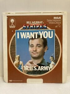 RCA COLUMBIA PICTURES VIDEO DISC. BILL MURRAY 1981 STRIPES. I WANT YOU 4 US ARMY