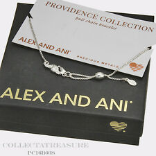 Authentic Alex and Ani Providence Seahorse Sterling Silver Bracelet