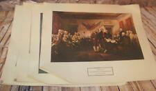 Vtg. New York Graphic Society Lot 4 USA Americana Prints Spirit of 76,Washington