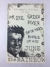 My Eye -Green River - Skin Yard - June 2 1986 the Rainbow Seattle Concert Poster