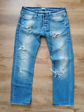 REPLAY DESTROYED SUPER STYLE W34/L32 RAR VINTAGE JEANS HOSE