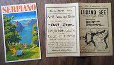 Prospekt Kurort Serpiano Lugano See Fahrplan für Dampfer Ausflüge 1933 Schweiz