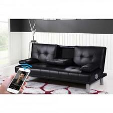 Manhattan Sofa Bed With Bluetooth Speakers Black Home Furniture & DIY Sofas Arm