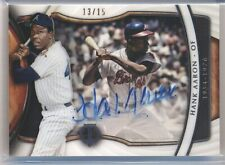 New listing HANK AARON 2018 TOPPS TRIBUTE GENERATIONS OF EXCELLENCE AUTO /15 ATLANTA BRAVES