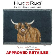 Hug Rug 85x65cm (HIGHLAND 1) Cow Bull Dirt Trapper Door Mat Machine Washable