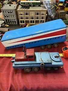 VINTAGE JAPAN SSS TIN TURNPIKE FAST FREIGHT Truck/trailer NICE LOOK