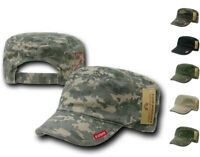 BDU Patrol Fatigue Cadet Military Army Cotton Adjustable Camo Caps Hats